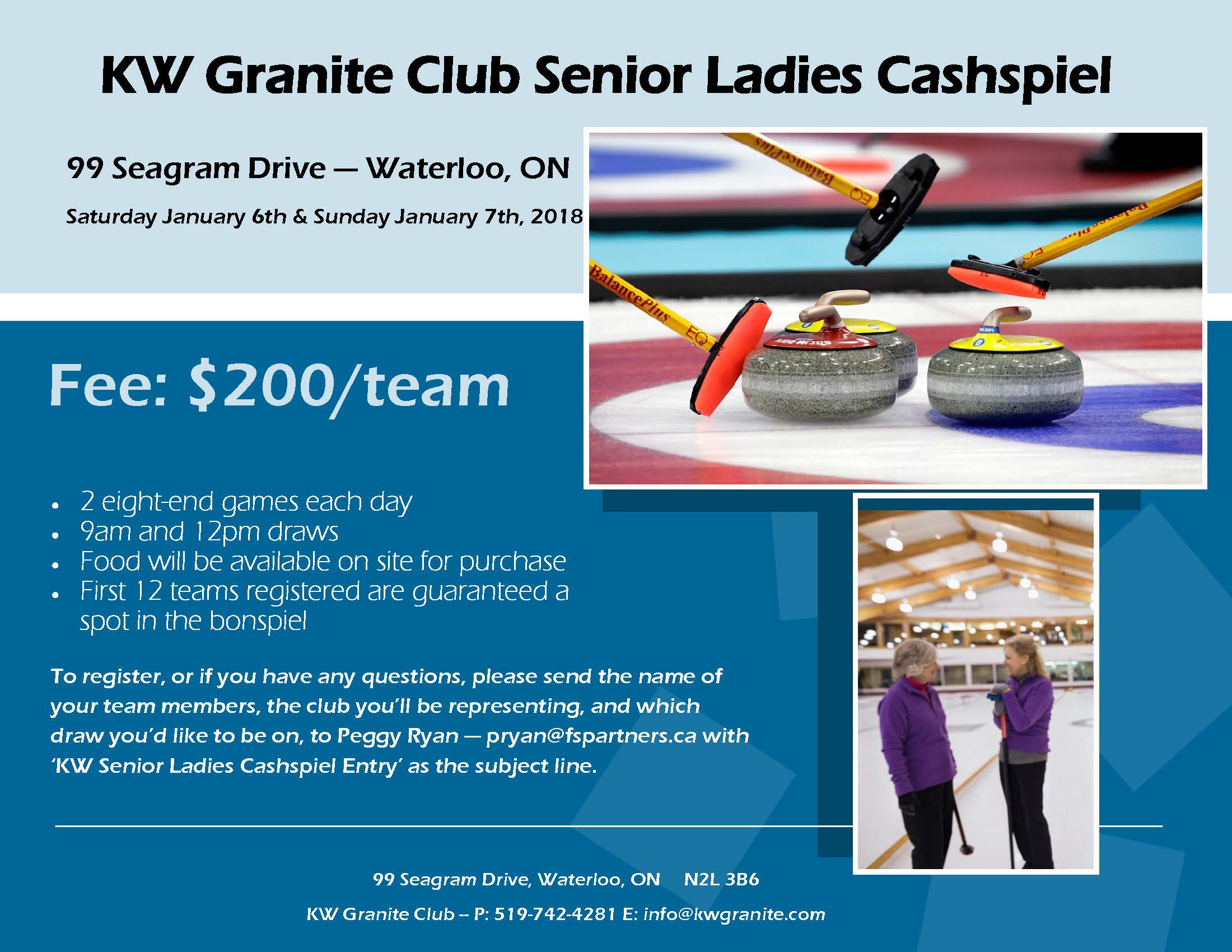 K-W Granite Club Senior Ladies Cashspiel - Women - CurlON