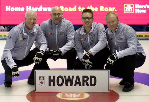 Summerside P.E.I. Home Hardware Road to the Roar 2017,TEAM HOWARD St. George's Golf & Curling Club, Etobicoke, Ont. Skip: Glenn Howard Third: Adam Spencer (not shown) Second: David Mathers Lead: Scott Howard Curling Canada/ michael burns photo